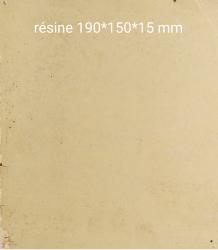 Résine dense couleur ivoire 190x150x15 mm