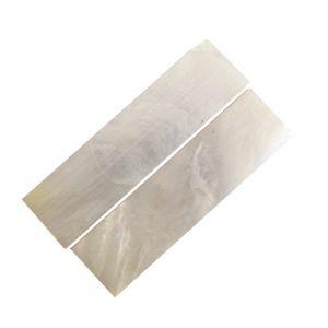 Ebauche(s) en nacre blanche 65 x 22 x 4 mm, la paire