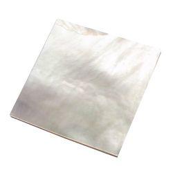 Plaque(s) de nacre blanche 40 x 40 x 2 mm , la pièce