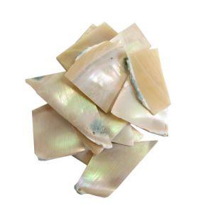 Nacre burgau en 2 mm au poids plaques standard, 50 gr (~75 cm2)