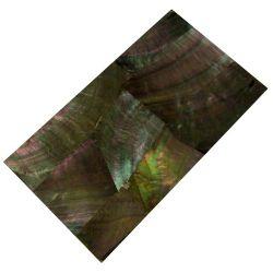 Plaque(s) de nacre noire de Tahiti reconstituée 120 x 70 x 2 mm, la pièce