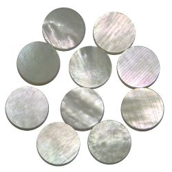 Dots white MOP diam 2 , 10 pieces pack 2 MM THICKNESS
