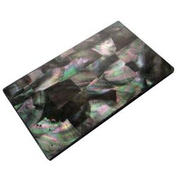 Plaque(s) de nacre noire de Tahiti reconstituée 240 x 140 x 5 mm, la pièce