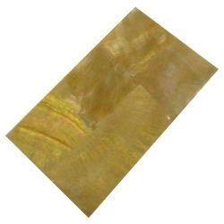 Plaque(s) de nacre jaune reconstituée 120 x 70 x 2 mm, la pièce