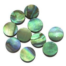 Pastille(s) Paua, nacre bleue, diamètre 12 les 10 pièces