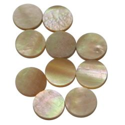 Dots Goldfish, pink abalone diam 1.5 , 10 pieces pack