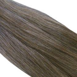 Crin gris poivre et sel moyen longueur 81 cm, la botte de 480 gr