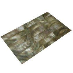 Plaque de nacre noire/grise de Tahiti reconstituée 240 x 140 x 0,4 mm