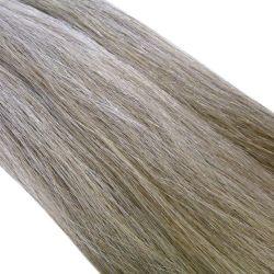 Crin gris poivre et sel clair longueur 81 cm, la botte de 480 gr