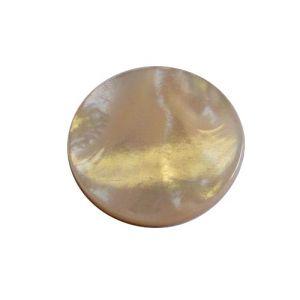 Pastille(s) nacre blanche diamètre 22 mm 1 pcs EPAISSEUR 3 MM