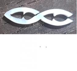Incrustation(s) en nacre blanche, modèle 8, épaisseur 1 mm, les 10 pièces