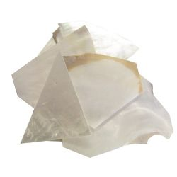 Nacre blanche en 3 mm au poids plaques standard, 50 gr (~42 cm2)