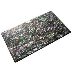 Plaque(s) de nacre verte abalone reconstituée 240 x 140 x 5 mm, la pièce