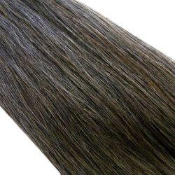 Crin gris poivre et sel foncé longueur 82 cm, la botte de 480 gr