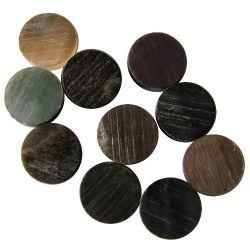 Repère(s) nacre noire/grise de Tahiti diamètre 12 les 10 pièces