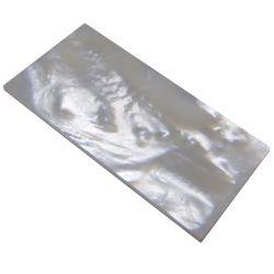 Plaque(s) de nacre blanche 37 x 19 x 3 mm, la pièce